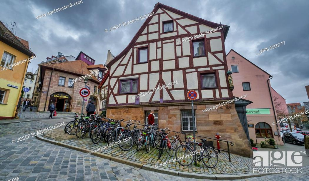 Stock Photo: Typical medieval town house in Nuremberg.