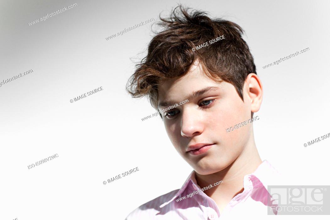 Stock Photo: Boy looking sad.