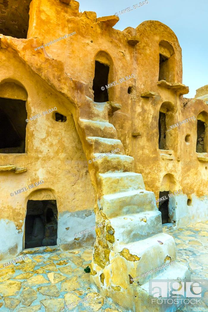Stock Photo: Fortified granaries (ksar). Ksar Ouled Soltane village. Tataouine district, Tunisia, Africa.