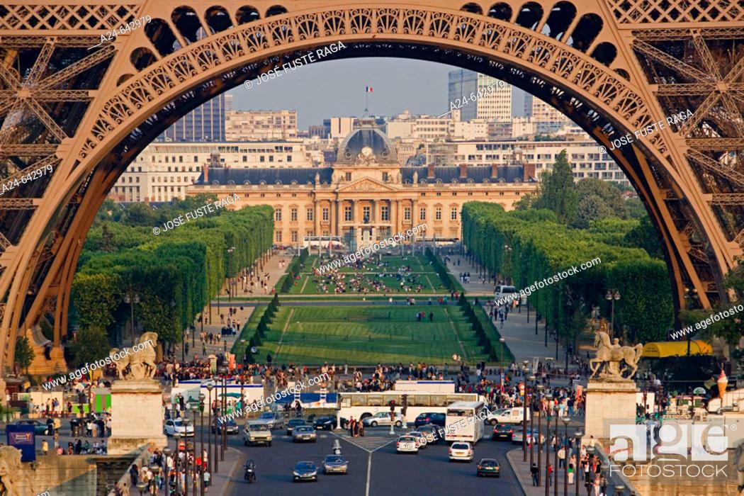 Stock Photo: Eiffel Tower. Paris. France. June 2007.