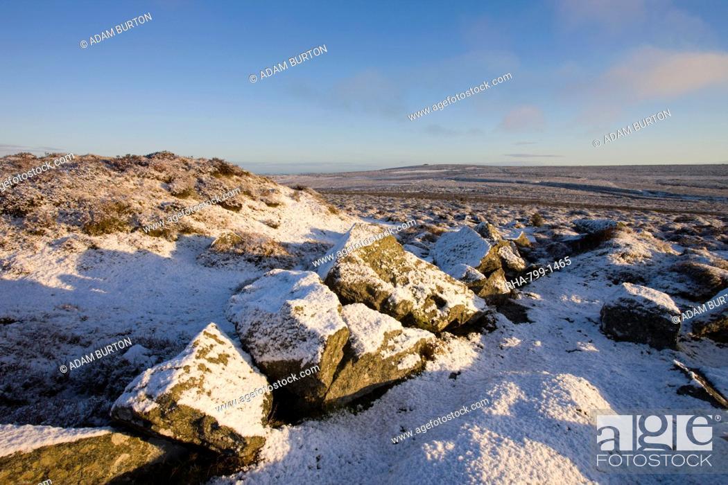 Stock Photo: Winter in Dartmoor National Park, Devon, England, United Kingdom, Europe.