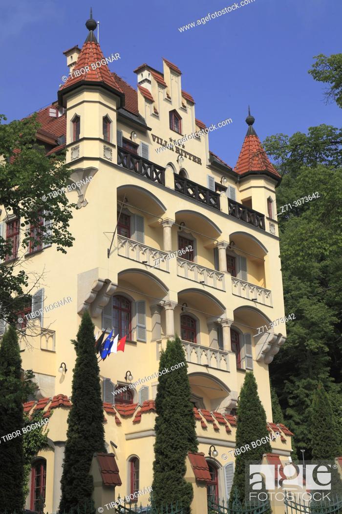 Imagen: Czech Republic, Karlovy Vary, Villa Ritter, house, historic architecture, .