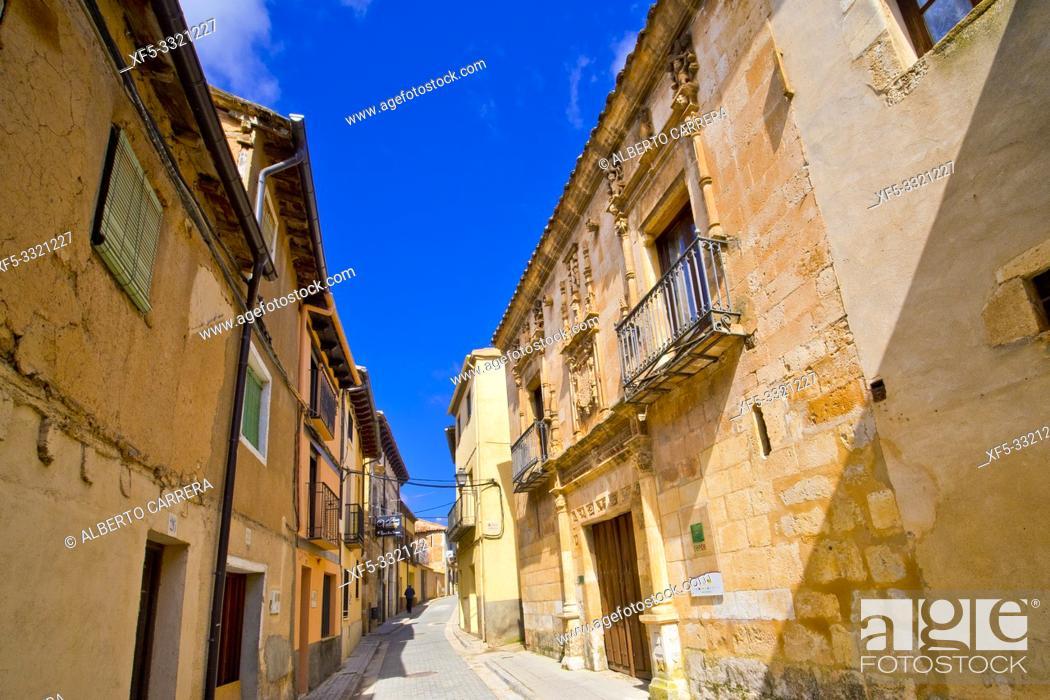Imagen: Street Scene, Tipycal Architecture, Old Town, Berlanga de Duero, Soria, Castilla y León, Spain, Europe.