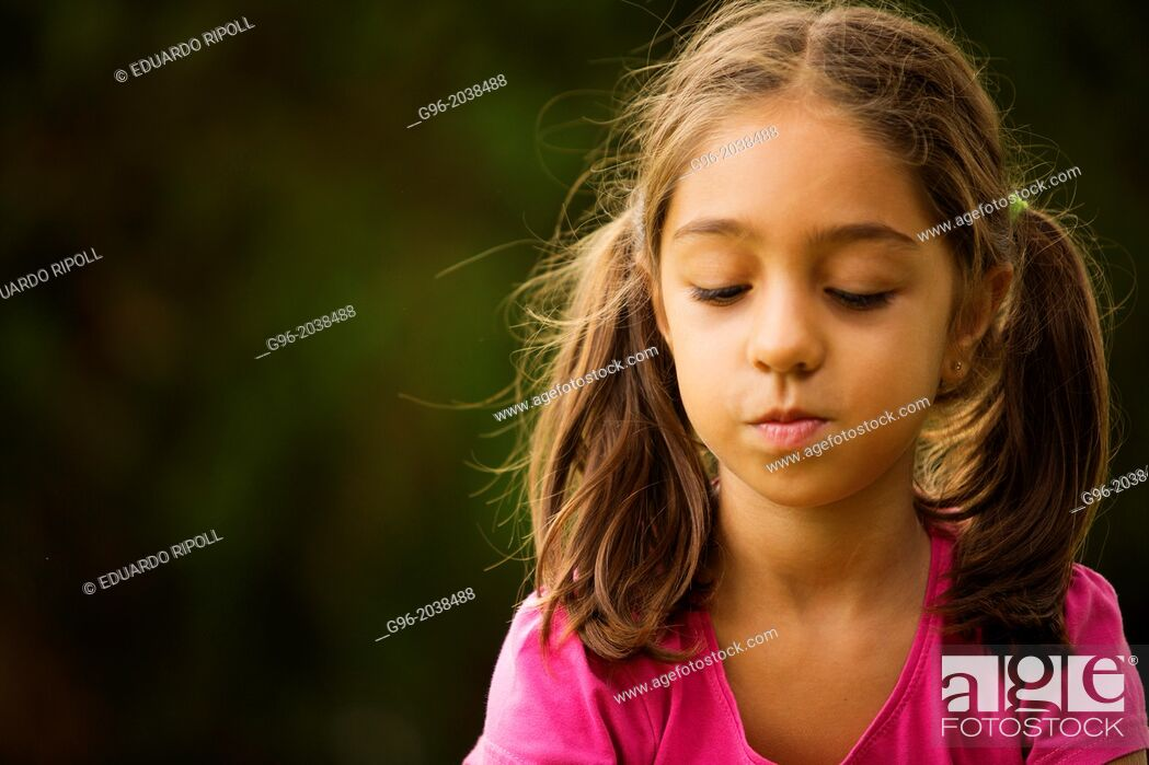 Stock Photo: Portrait of a little girl.