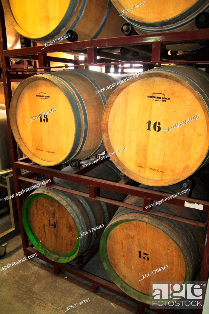 Stock Photo: Wine cellar in North Tenerife, Canary Islands, Spain.