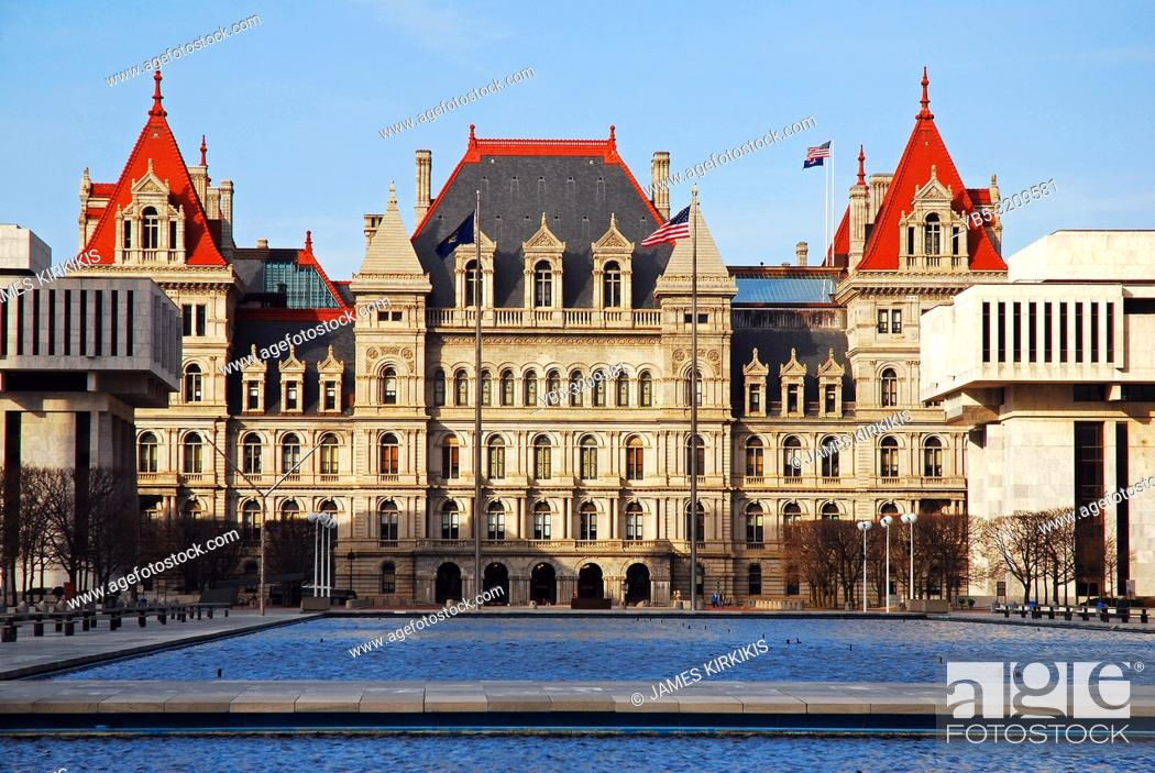 Stock Photo: The New York State Capitol in Albany.