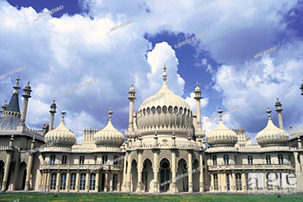 Stock Photo: great britain, england, sussex, brighton, royal pavilion.