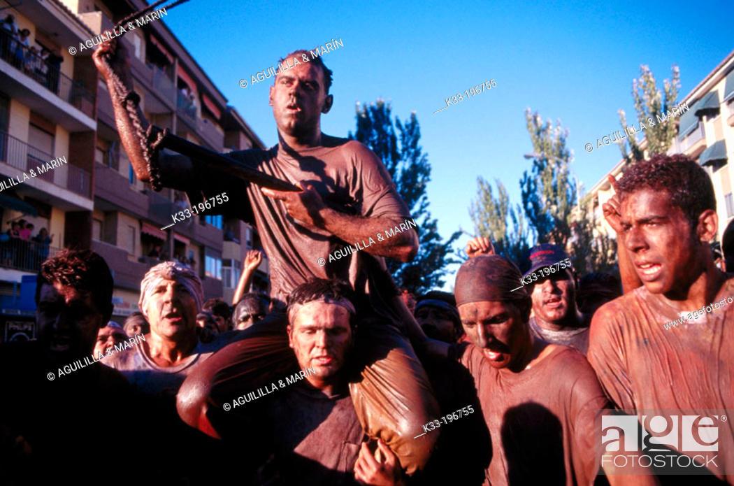 Stock Photo: 'El Cascamorras', local festival. Guadix. Granada province. Spain.