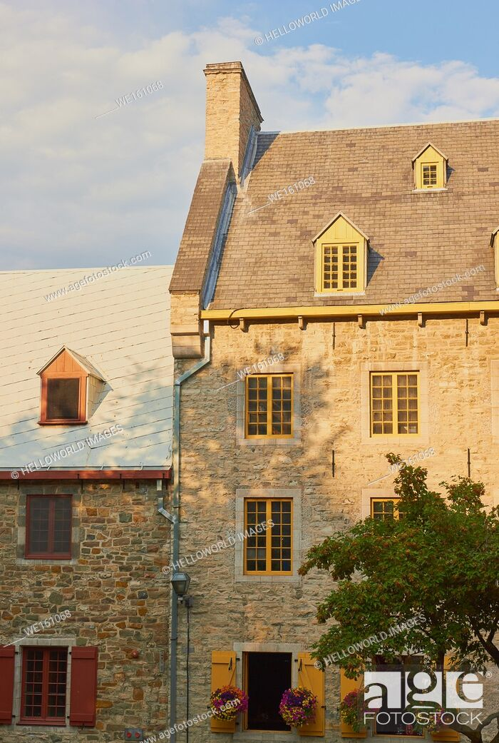 Stock Photo: Vintage stone houses, Quebec old town, Quebec City, Canada.