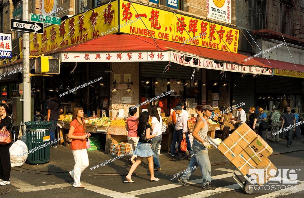 chinatown Catherine St at East Broadway,New York City, USA
