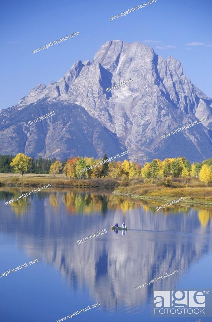 Stock Photo: Grand Teton National Park in Autumn, Jackson, Wyoming.