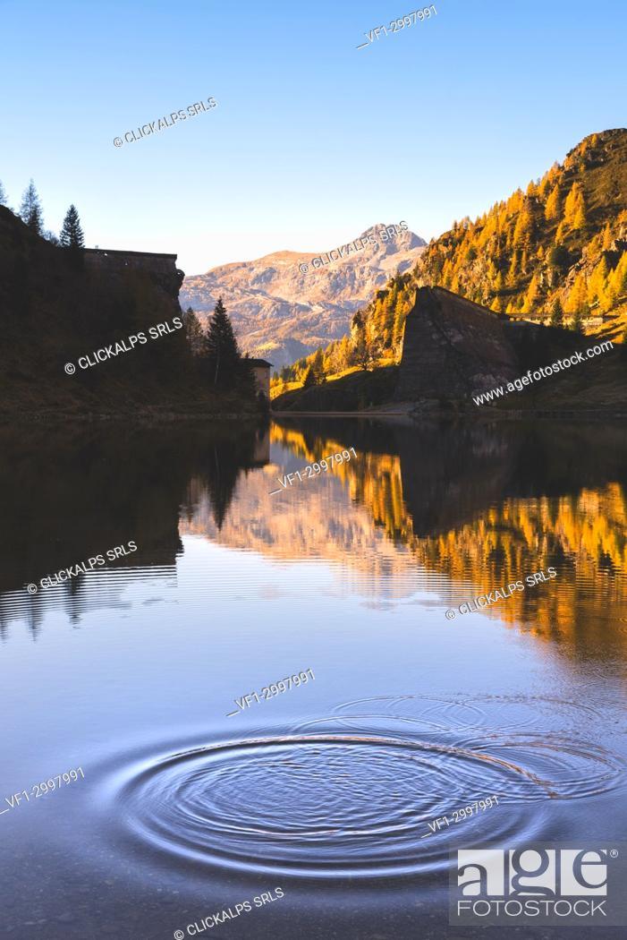 Stock Photo: Gleno dam in Scalve Valley, Lombardy, Bergamo province, Italy.