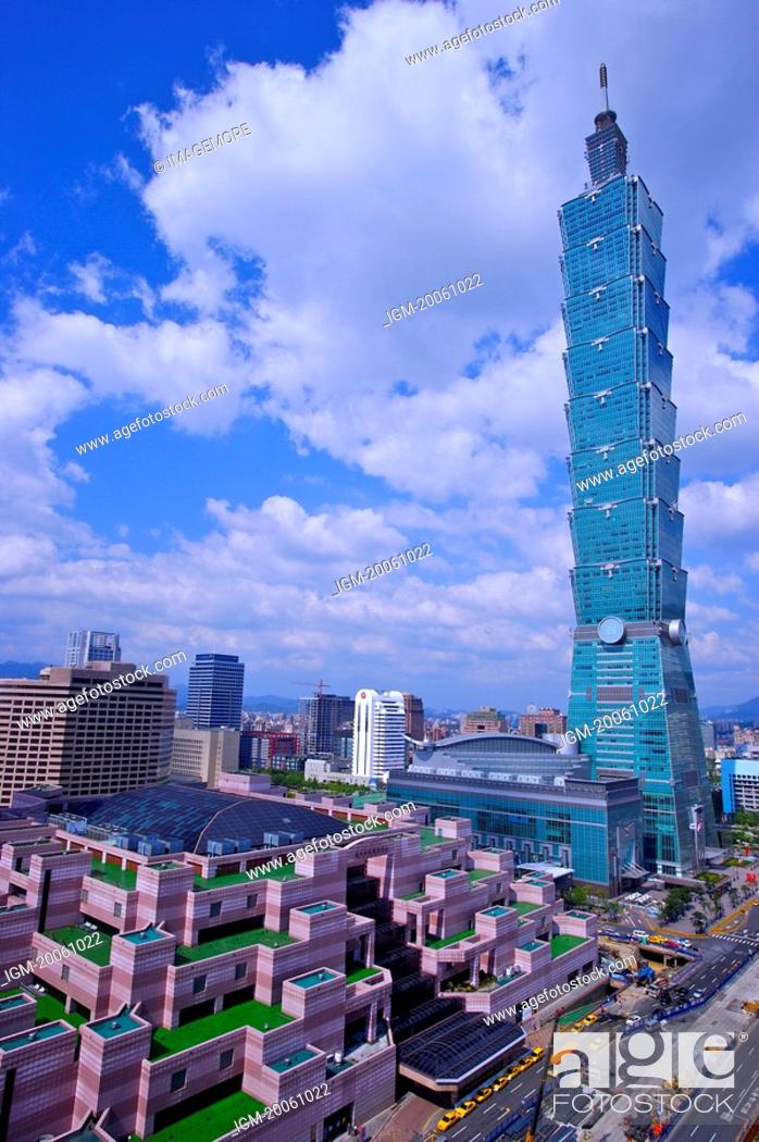 Stock Photo: Taiwan, Taipei, Taipei 101, Taipei World Trade Center.