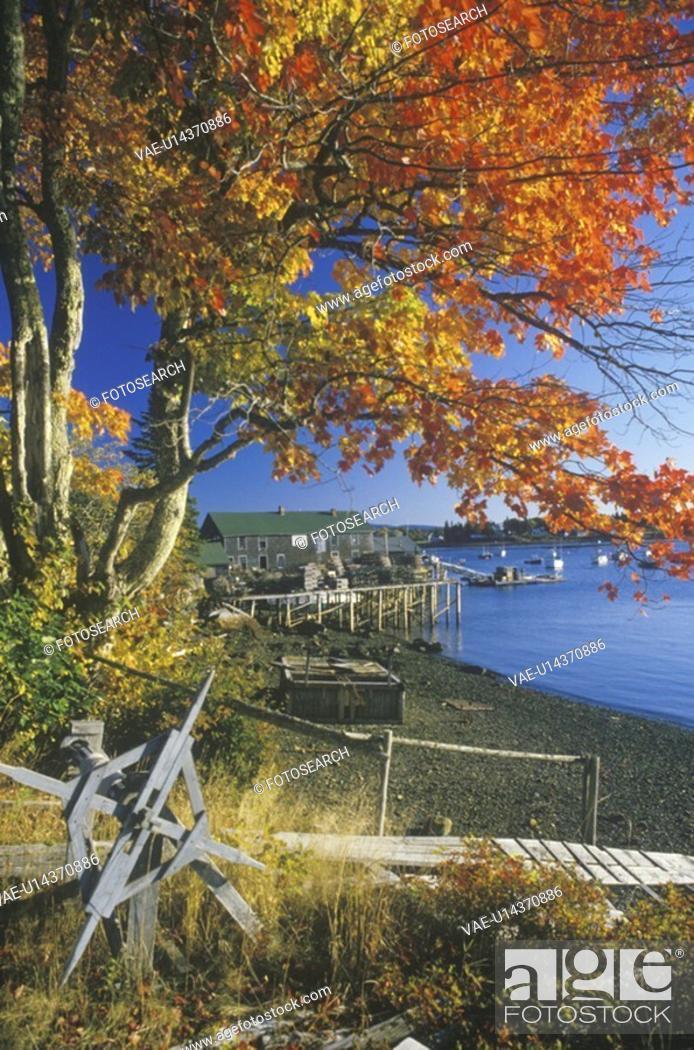 Stock Photo: Lobster Village in Autumn.