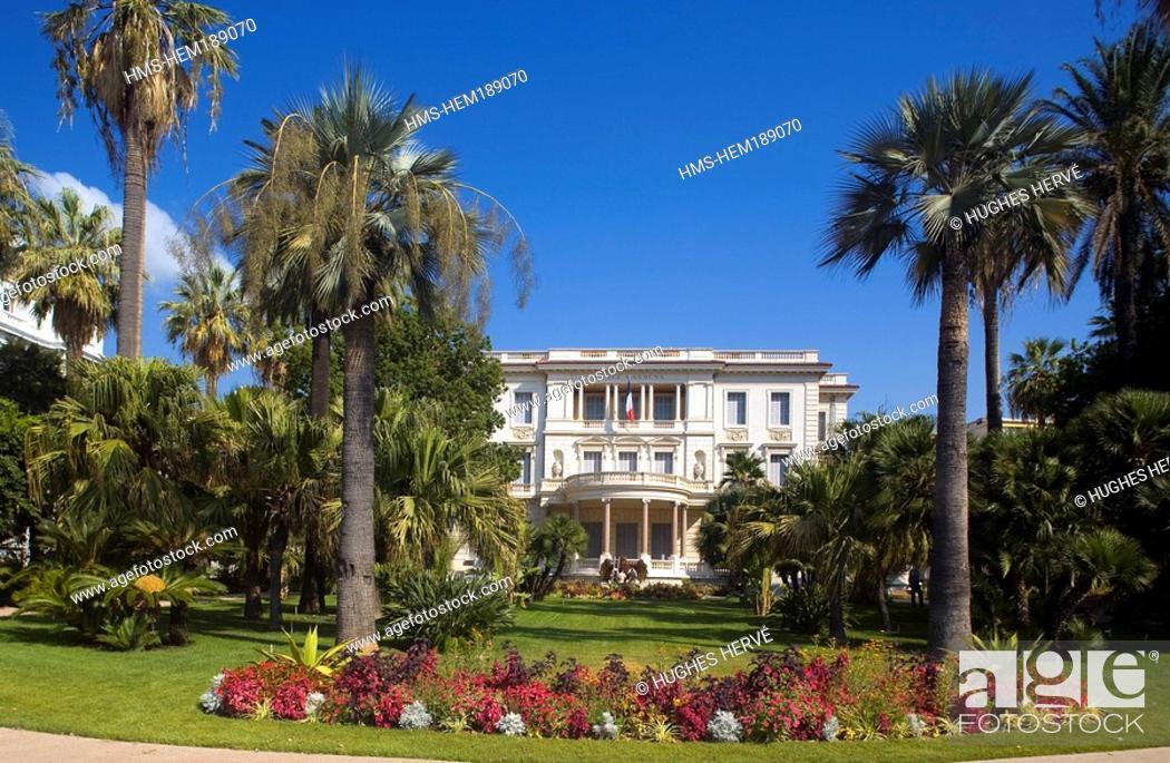 Stock Photo: France, Alpes Maritimes, Nice, Promenade des Anglais, Musee Massena.