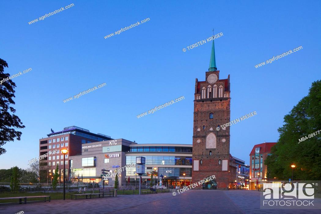 Stock Photo: Kröpeliner Tor Center Rostock KTC and Kröpeliner Tor, Rostock, Mecklenburg-Vorpommern, Germany, Europe.