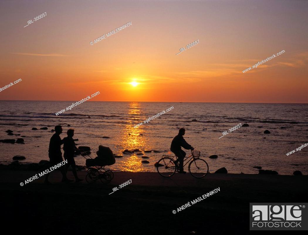Stock Photo: Sunset, Gotland.