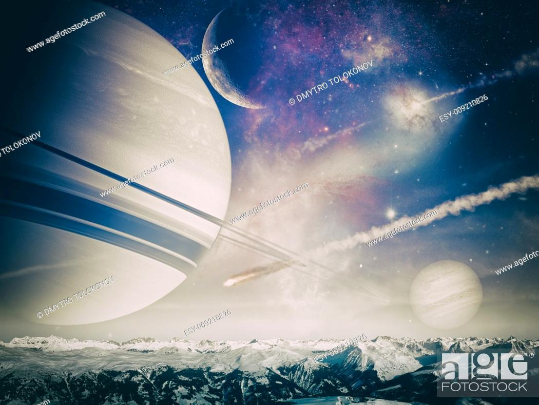 Stock Photo: Another world landscape, abstract fantasy backgrounds.