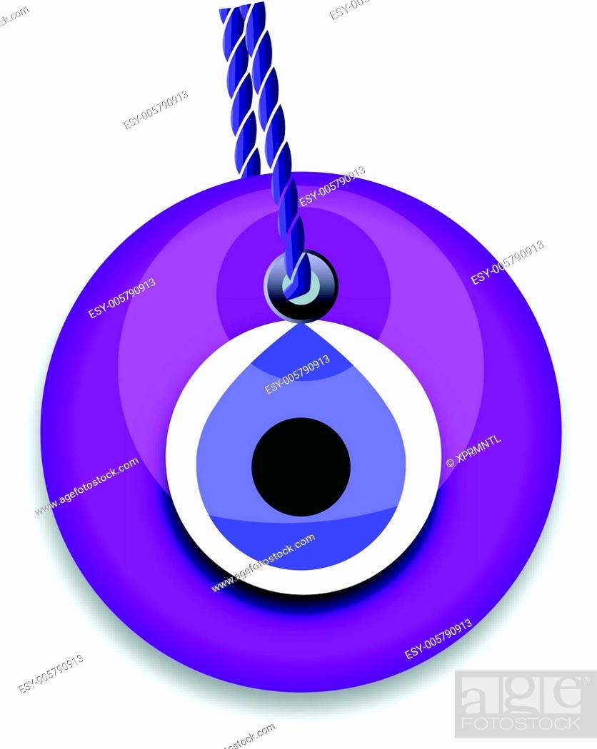Stock Vector: purple bead.