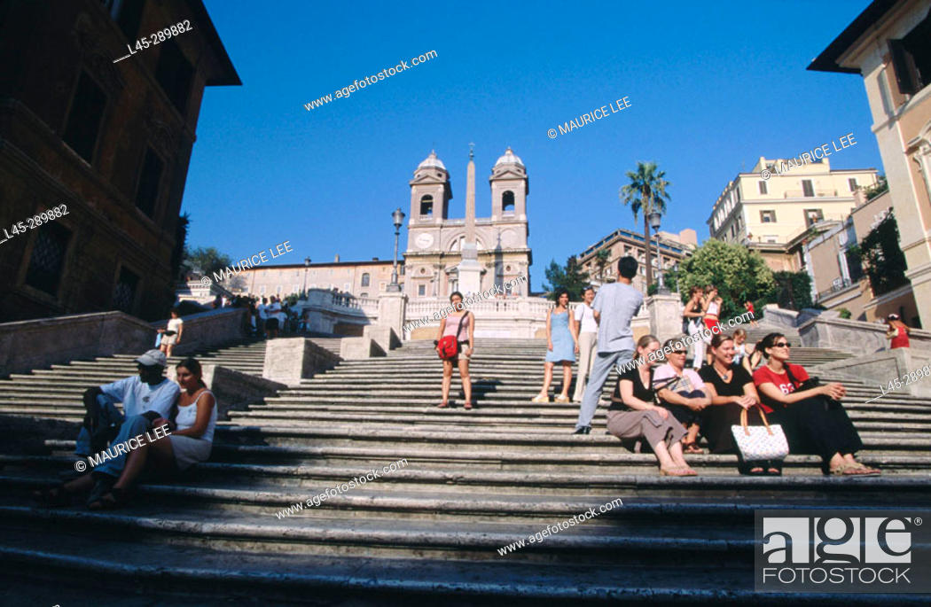 Stock Photo: Spanish Steps, Piazza di Spagna. Rome. Italy.