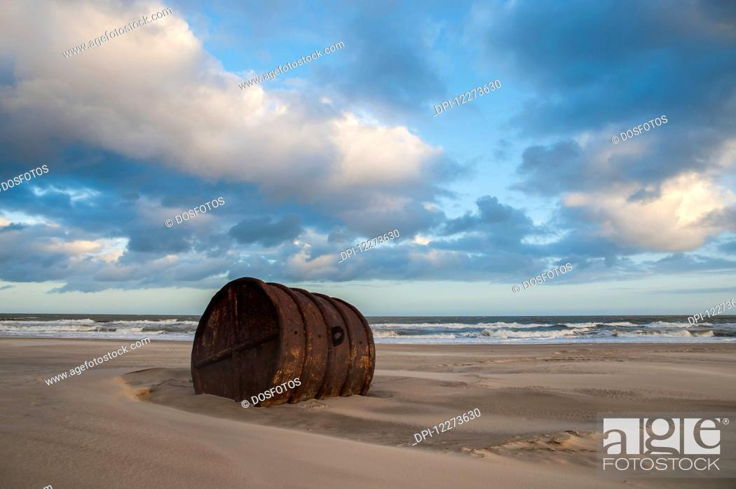 Stock Photo: Casino Beach, the longest beach in the world; Rio Grande do Sul, Brazil.