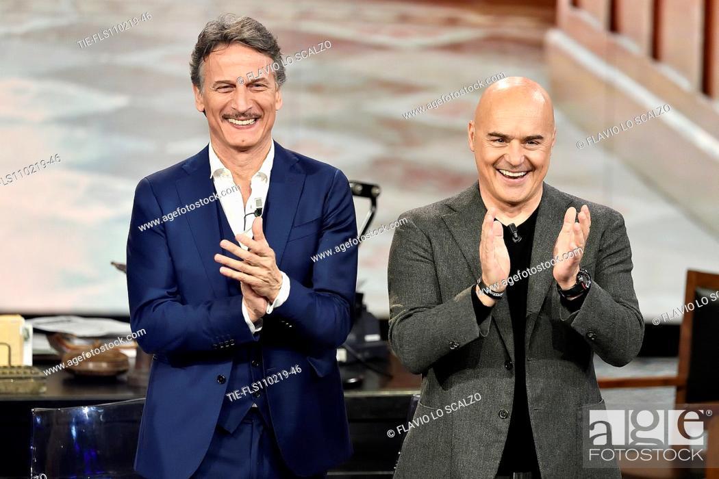 Imagen: Actors Cesare Bocci, Luca Zingaretti during the tv show Che tempo che fa, Milan, ITALY-10-02-2019.