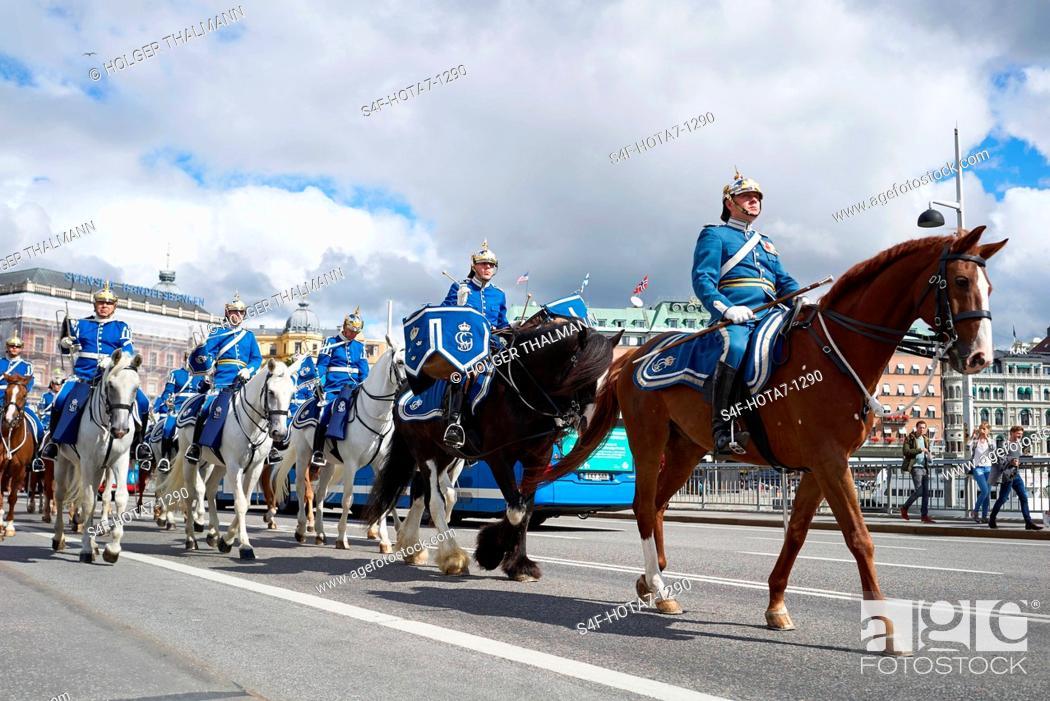 Stock Photo: Schweden, Stockholm, Militärparade.