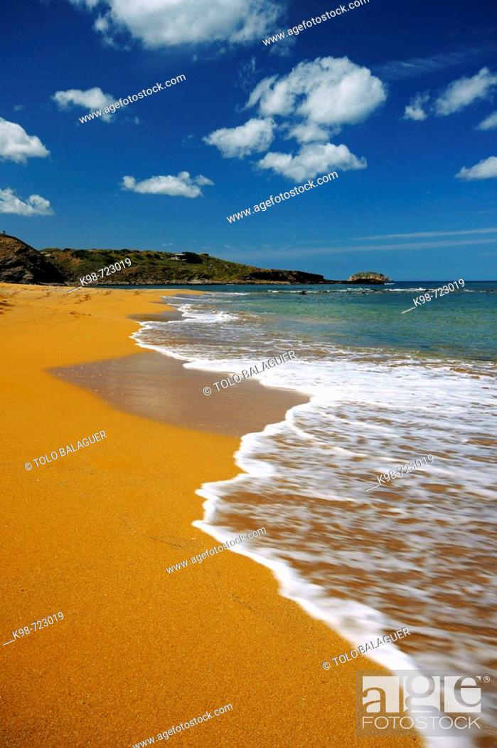Stock Photo: Beach of Cavalleria, Ferragut, Minorca. Balearic Islands, Spain.
