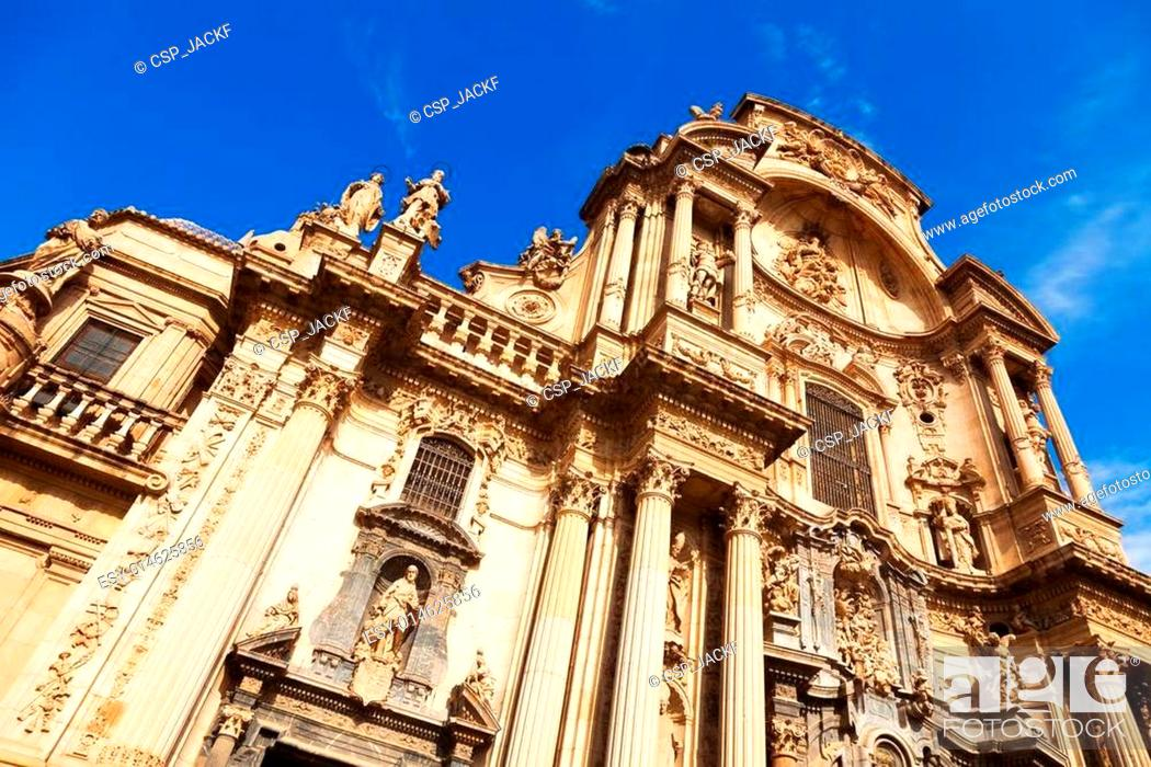 Stock Photo: Cathedral of Saint Maria in Murcia. Spain.