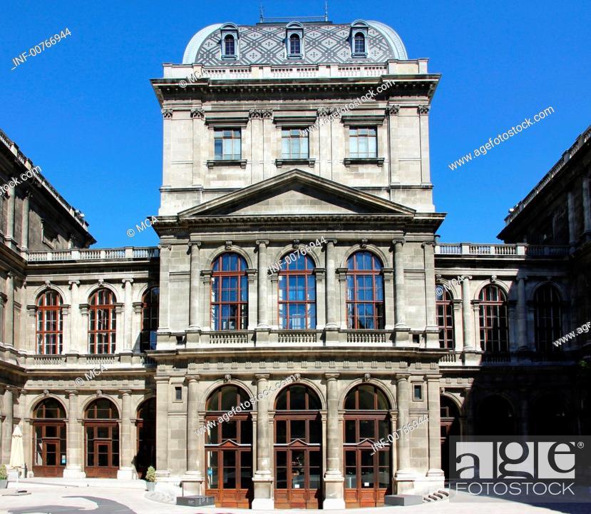 Stock Photo: geography / travel, Austria, Vienna, university, Alma Mater Rudolphina Vindobonensis, founded in 1365, main building, built: 1877-1884 by Heinrich von Ferstel,.