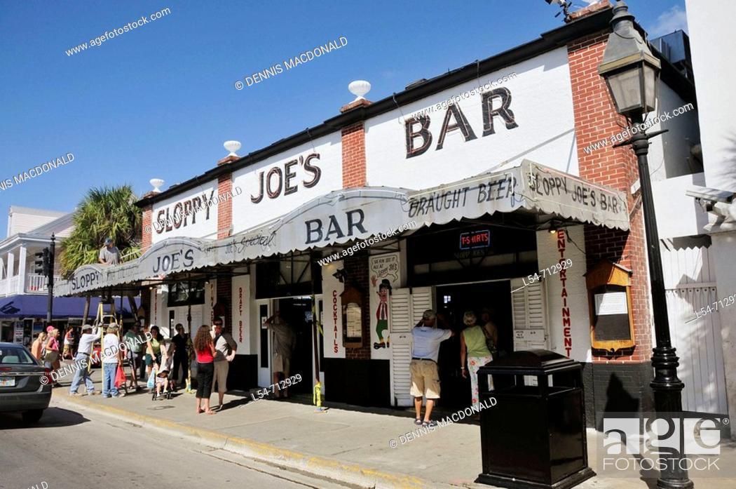 Stock Photo: Sloppy Joes Bar at Key West Florida.