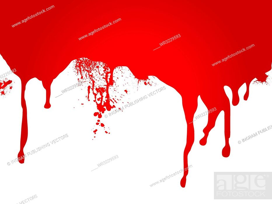 Vector: A stream of blood that is ideal as a page header or for a web site.