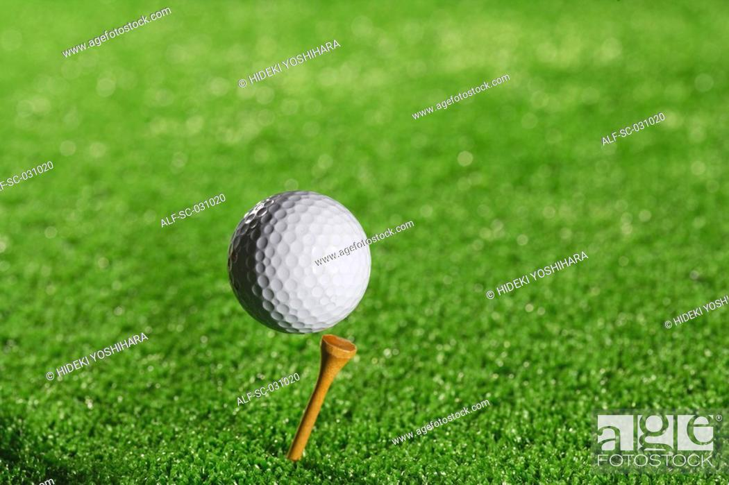 Stock Photo: Teeing Off.