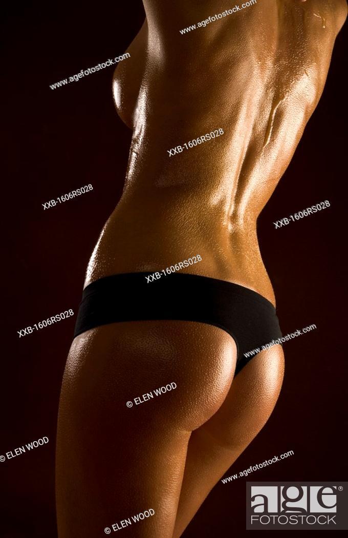 Stock Photo: beauty woman in oil.