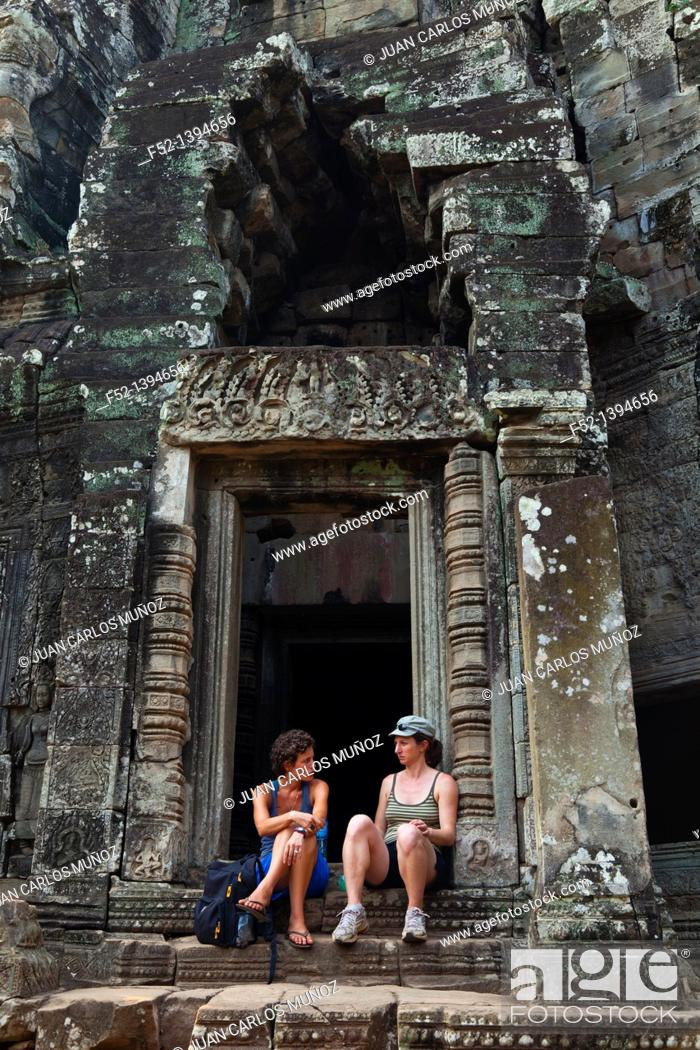 Stock Photo: Bayon Temple  Angkor  Siem Reap town, Siem Reap province  Cambodia, Asia.