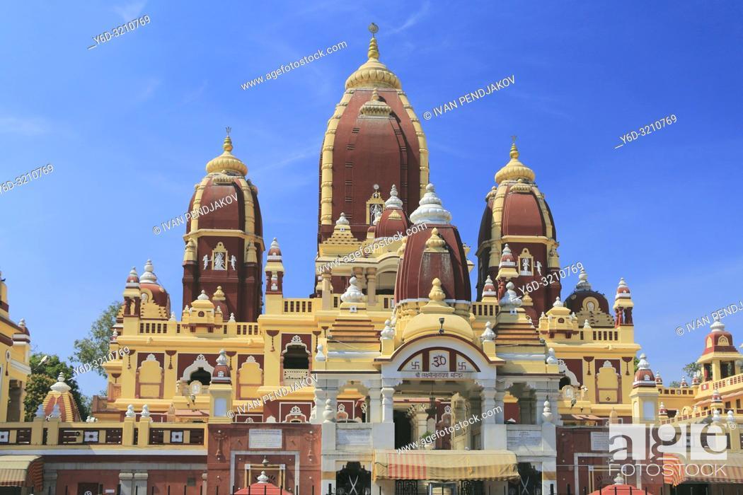 Stock Photo: Laxminarayan Temple, New Delhi, India.
