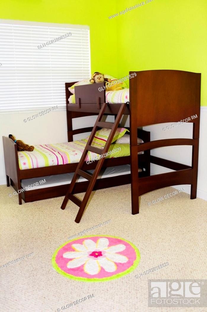 Photo de stock: Interiors of a bedroom.