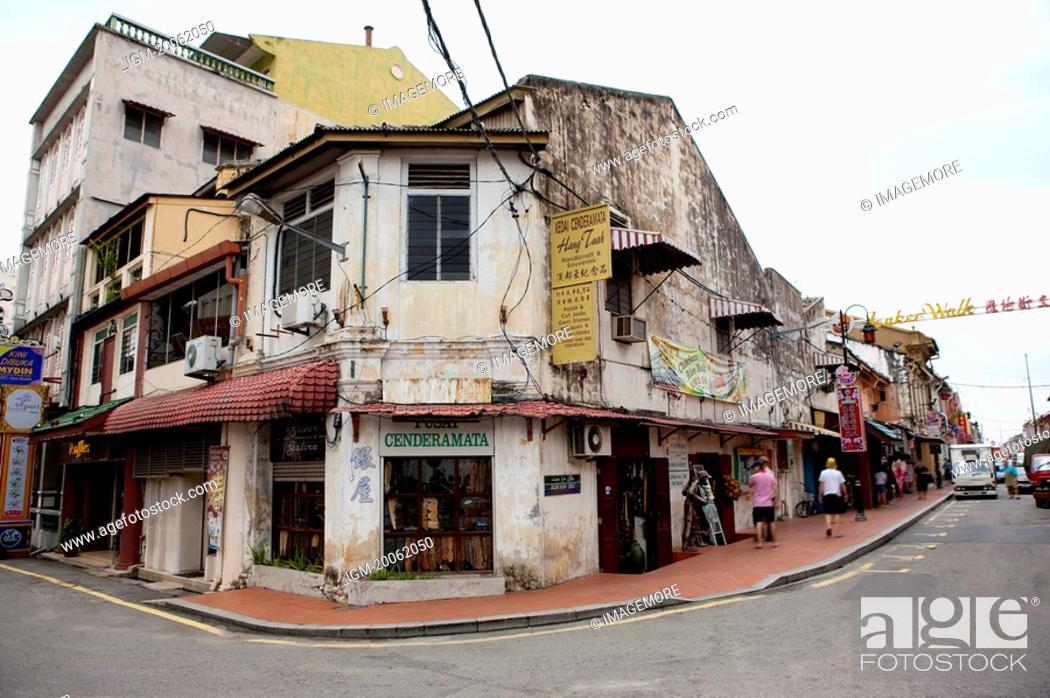 Stock Photo: Malaysia, Melaka State, Jonker Street.