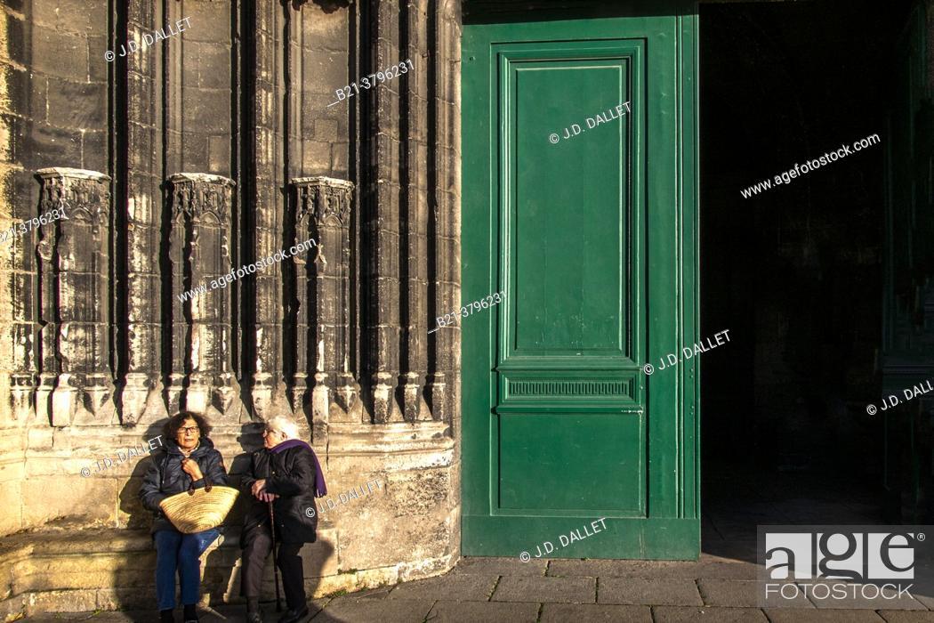 Photo de stock: France, Nouvelle Aquitaine, Gironde, Basilic Saint Michel, at Bordeaux.
