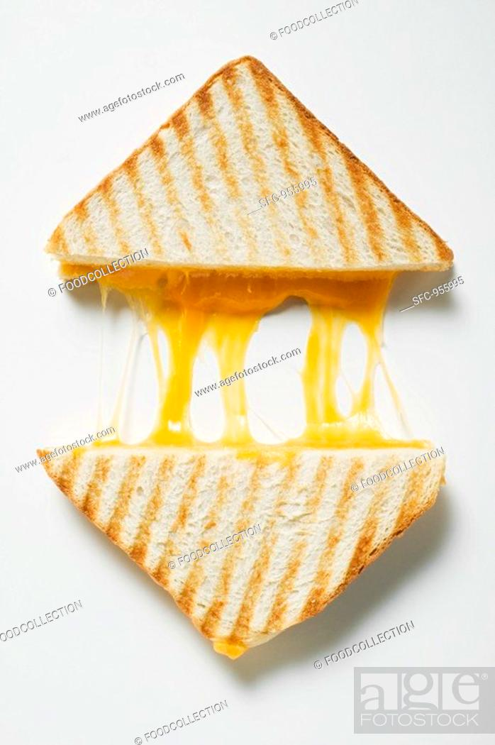 Stock Photo: Toasted cheese sandwiches.