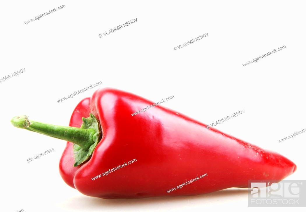 Stock Photo: paprika isolated on white.