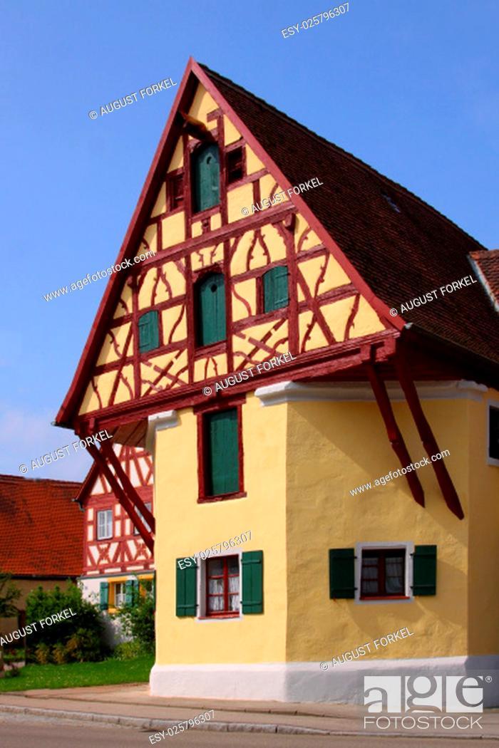 Stock Photo: Village, Bavaria, Community, Market Town, Middle Franconia, Frame-Work, Francs, Ehingen, Hesselberg, Lentersheim
