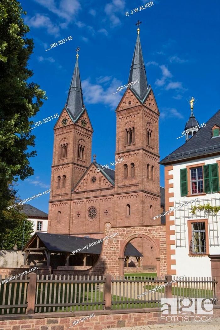 Stock Photo: Former benedictine abbey, Seligenstadt, Hessen, Germany.