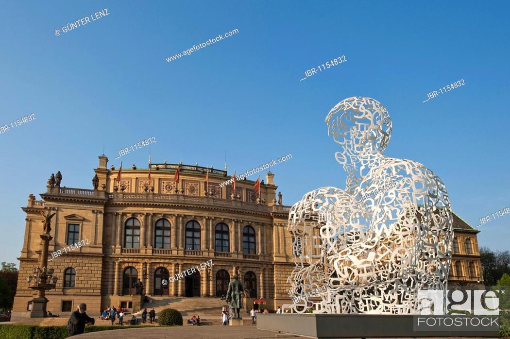 Stock Photo: Rudolfinum, Prague, Czech Republic, Europe.