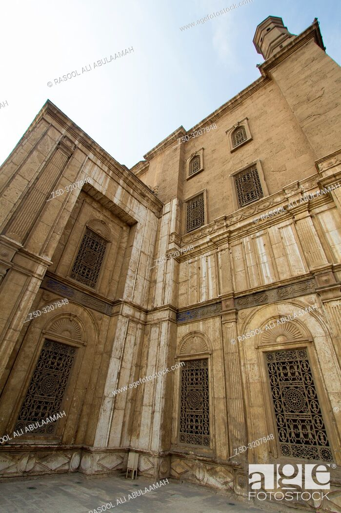 Stock Photo: Cairo, Egypt – November 7, 2018: photo for Mosque of Muhammad Ali in Cairo city capital of Egypt, it is shown in Ottoman Islamic style construction.