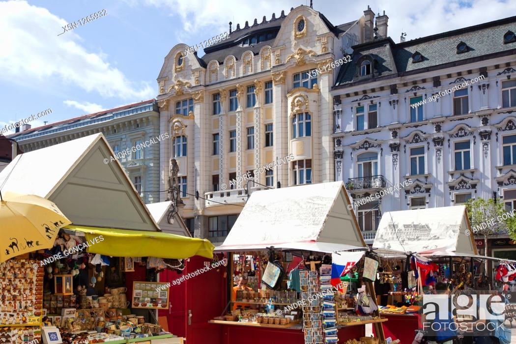 Stock Photo: Hviezdoslav's Square, Bratislava, Slovakia.