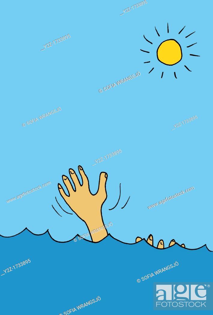 Stock Photo: Drowning.