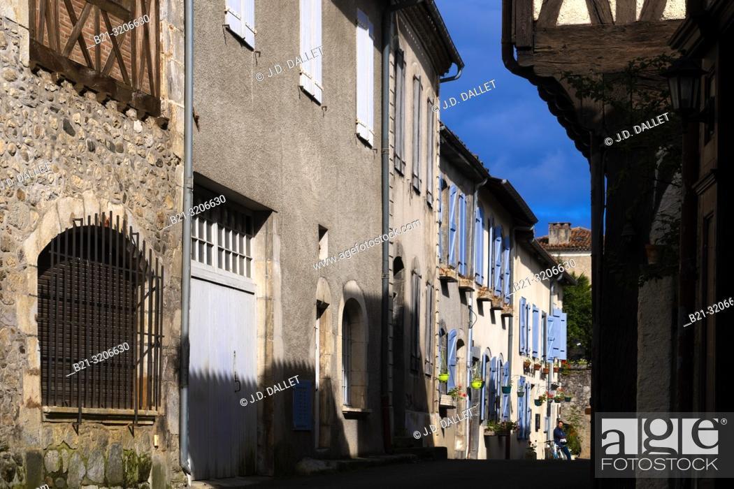 Stock Photo: France, Occitanie, Haute Garonne, at Saint Bertrand de Comminges. Pilgrimage way to Santiago de Compostela.