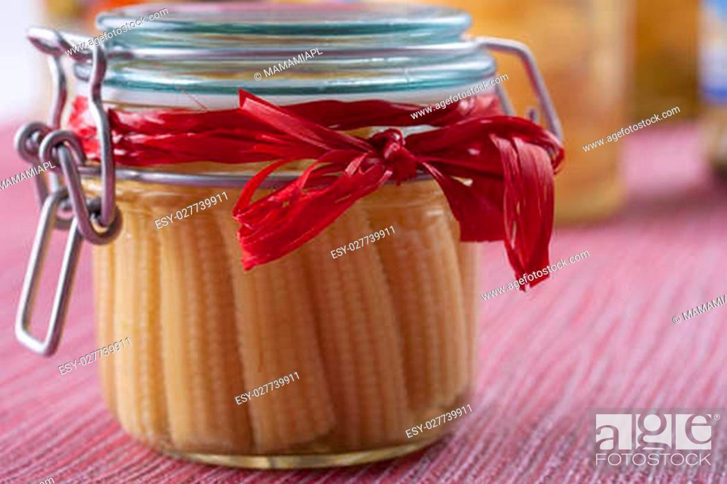Pickle Jar Winter Ideas Taste Of Summer On Your Table Small Popcorn Cobs Stock Photo Picture And Low Budget Royalty Free Image Pic Esy 027739911 Agefotostock