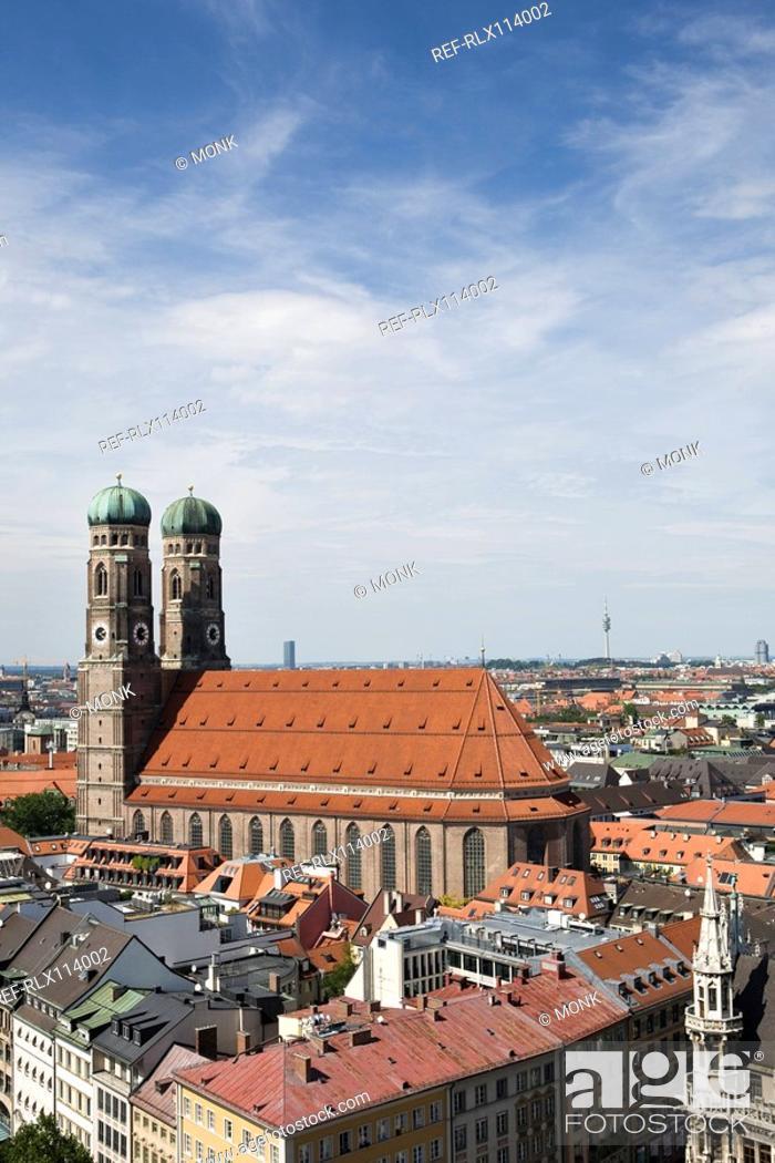 Stock Photo: View of Munich Cathedral, Munich, Bavaria, Germany.